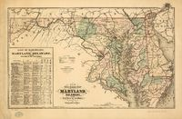 New railroad map of the state of Maryland, Delaware, and the District of Columbia, Compiled and Drawn by Frank Arnold Gray